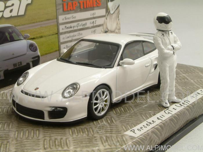 minichamps porsche 911 gt2 997 special edition 39 top gear 39 with the stig figurine 1 43 scale model. Black Bedroom Furniture Sets. Home Design Ideas