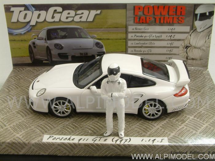 Porsche 911 GT2 997 Special Edition 'Top Gear ' with The Stig figurine by minichamps