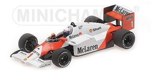 McLaren MP4/2C Tag 1986 World Champion Alain Prost by minichamps
