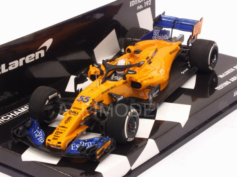 McLaren MCL33 Renault  Carlos Sainz jr Formel 1 Abu Dhabi 2018  1:43 Minichamps