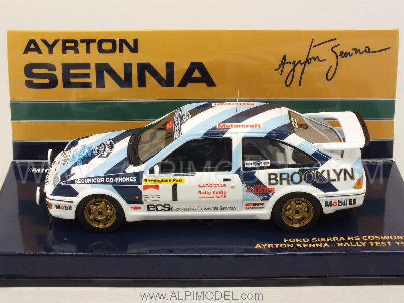 Ford Sierra RS Cosworth #1 Rally Test 1986 Ayrton Senna Collection - minichamps