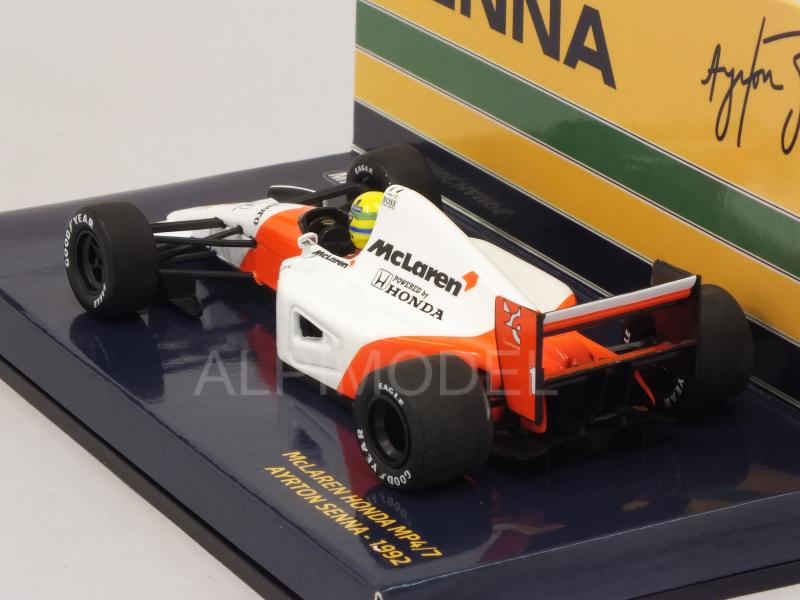 McLaren MP4/7 Honda #1 1992 Ayrton Senna Collection (New Edition) - minichamps