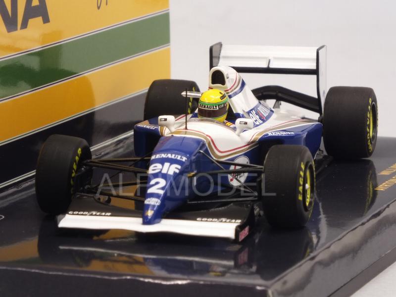 Minichamps 547940102 1//43 Williams FW16 Ayrton Senna 1994 Brasil GP F1 Modelo