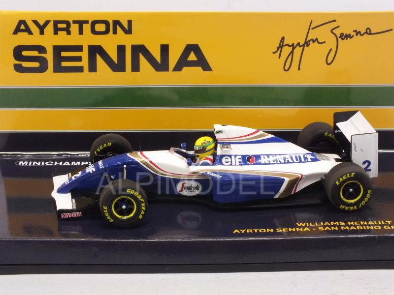 Williams FW16 Renault #2 GP San Marino 1994 Ayrton Senna fatal race (HQ resin) - minichamps