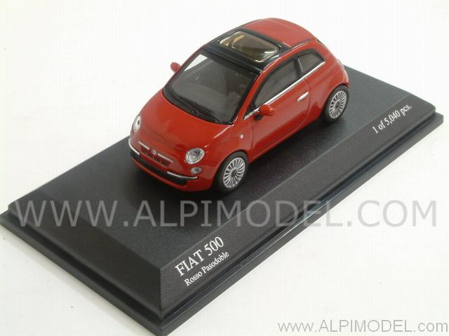 Fiat 500 2007 (Rosso Pasodoble)  (1/64 scale) by minichamps