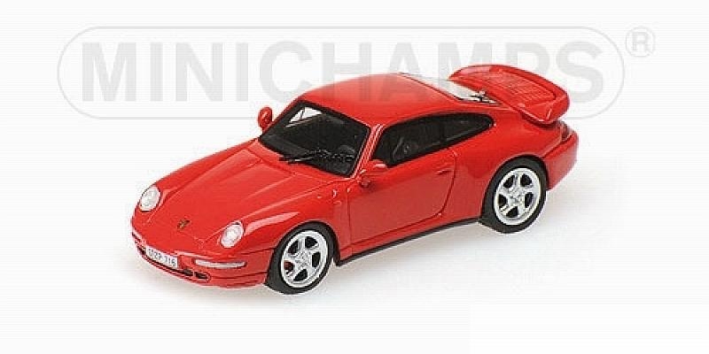 Porsche 911 Turbo (Type 993) 1995 (Red) (H0-1/87 scale - 5cm) by minichamps