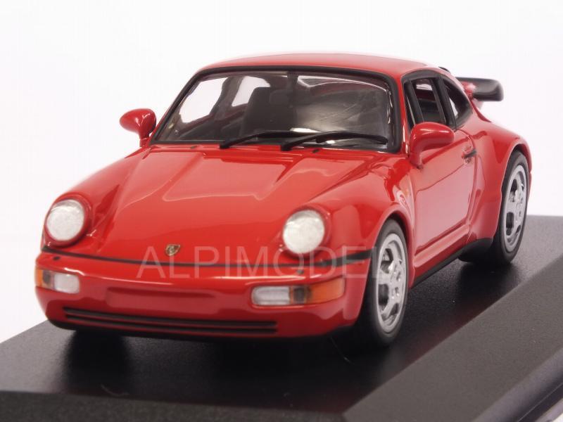 964 Minichamps MAXICHAMPS 940069102 PORSCHE 911 TURBO – 1990 – RED 1//43