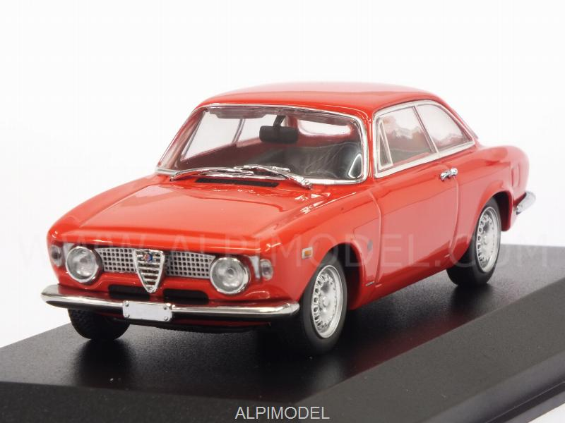 Alfa Romeo Giulia Sprint GTA 1965 (Red)  'Maxichamps' Edition by minichamps