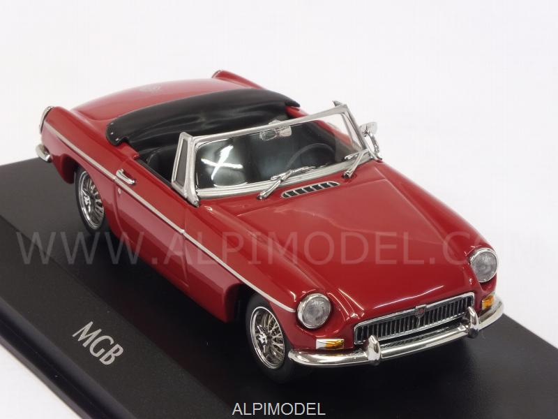MG B Cabriolet 1962 (Red) 'Maxichamps' Edition - minichamps