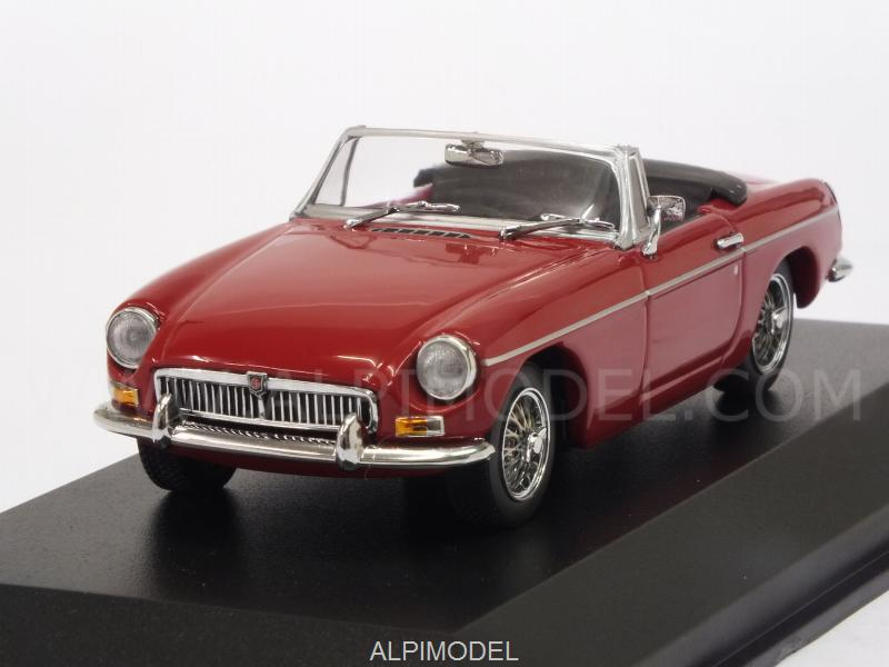 MG B Cabriolet 1962 (Red) 'Maxichamps' Edition by minichamps