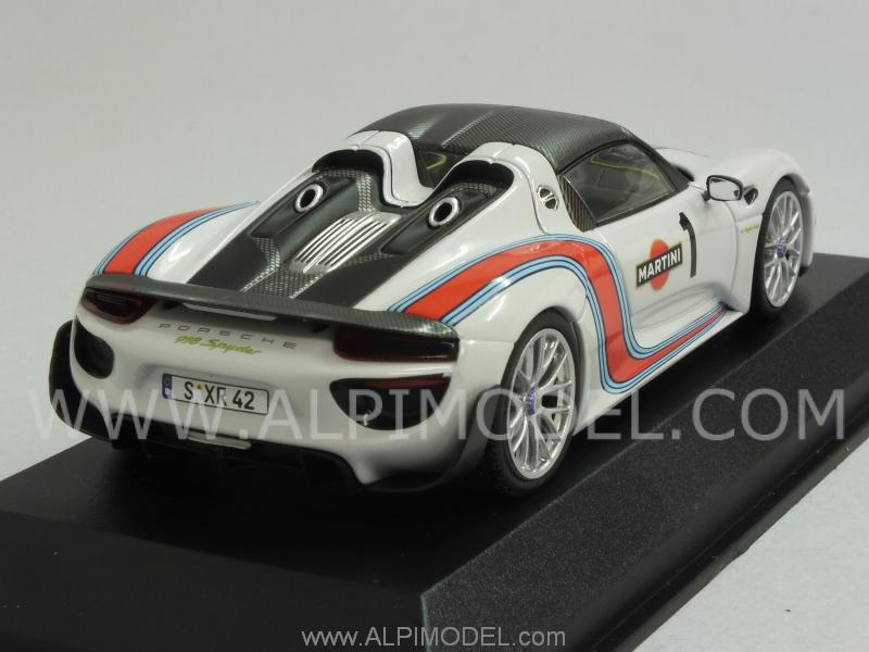 minichamps porsche 918 spyder martini weissach package 2014 red porsche p. Black Bedroom Furniture Sets. Home Design Ideas