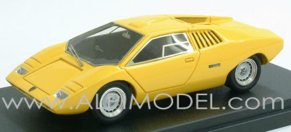 mr collection lamborghini countach lp 500 prototype ginevra 1971 yellow 1 43 scale model. Black Bedroom Furniture Sets. Home Design Ideas