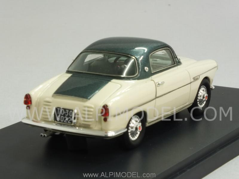 Fiat 600 Viotti Coupe 1959 (White/Green Metallic) - matrix-models