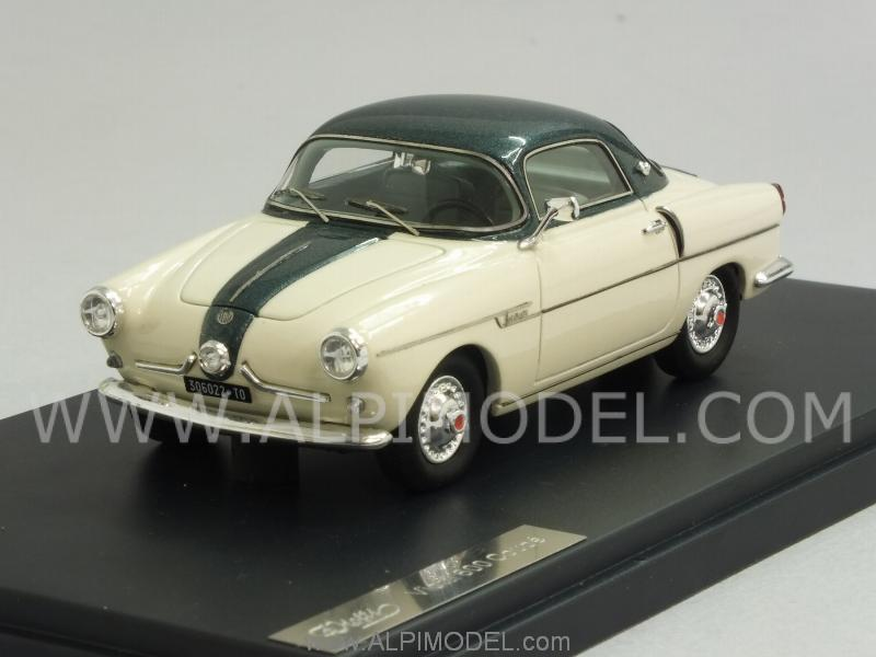 Fiat 600 Viotti Coupe 1959 (White/Green Metallic) by matrix-models