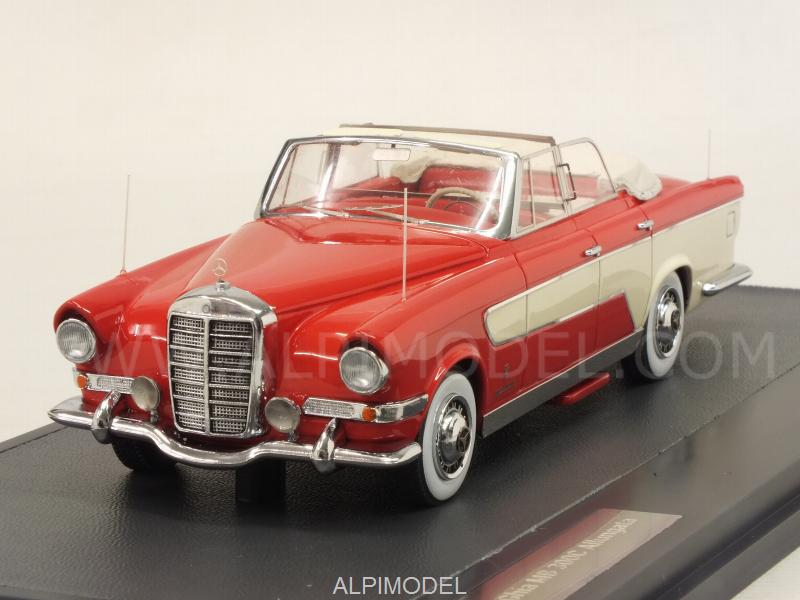 Mercedes 300C Ghia Allungata Cabriolet 1956 /Red/White) by matrix-models