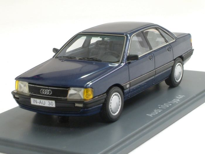 Neo Audi 100 Type 44 Dark Blue Metallic 1 43 Scale Model