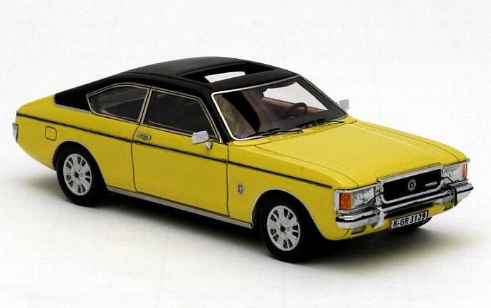 Neo Ford Granada Mk1 Coupe Yellow Black 1972 1 43 Scale