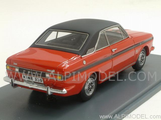Neo Ford Taunus P6 15m Coupe Rs Red Black 1 43 Scale Model