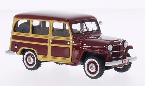Jeep Willys Station Wagon (Dark Red/Wood) by neo