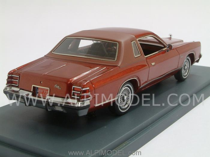 Neo Dodge Charger Red Metallic 1976 1 43 Scale Model