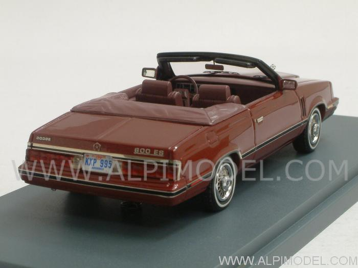 Dodge 600 Convertible 1984 (Red Metallic/Red) - neo