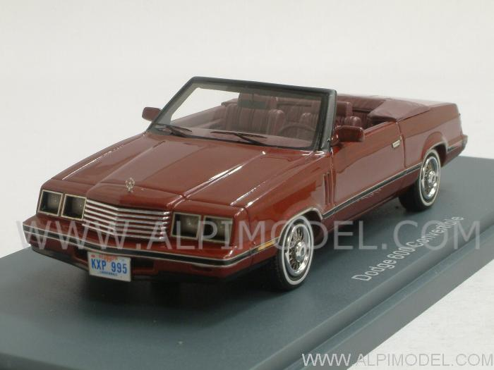Dodge 600 Convertible 1984 (Red Metallic/Red) by neo