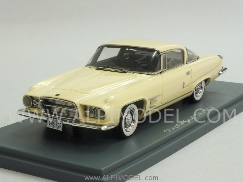Neo chrysler dual ghia l 6 4 hardtop coupe 1960 cream 1 43 scale model