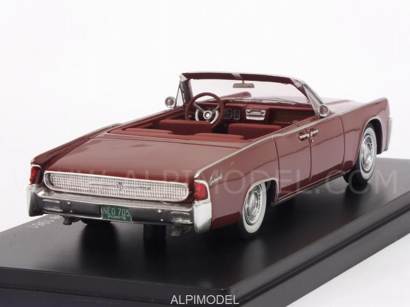 Lincoln Continental 53A Convertible 1961 (Red) - neo