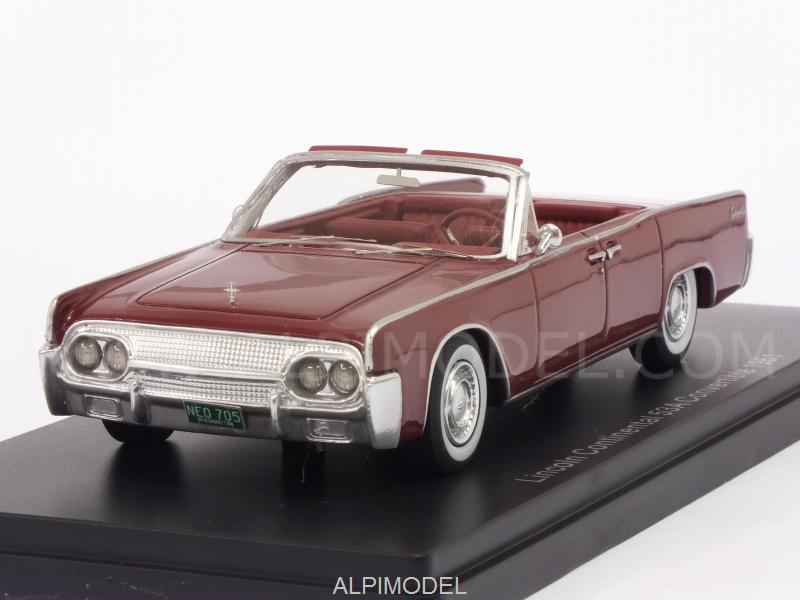 Lincoln Continental 53A Convertible 1961 (Red) by neo