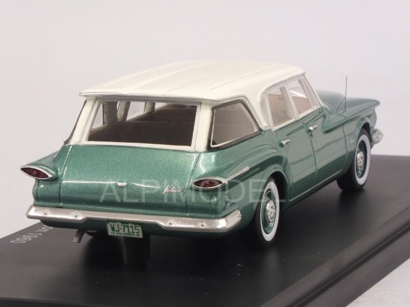 NEO 47115 Plymouth Valiant Wagon 1960 (Metallic Green/White
