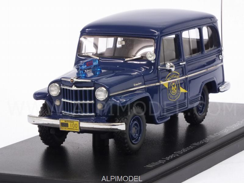 Jeep Willys Station Wagon Michigan State Police 1954 by neo
