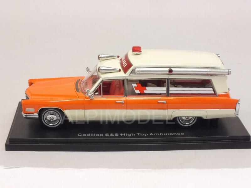Cadillac S&S Ambulance 1966 (White/Orange) - neo