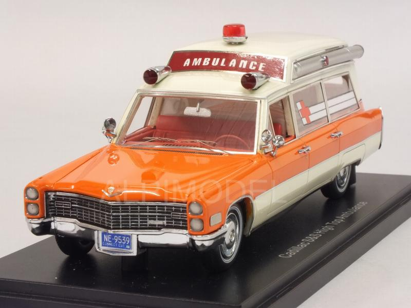 Cadillac S&S Ambulance 1966 (White/Orange) by neo