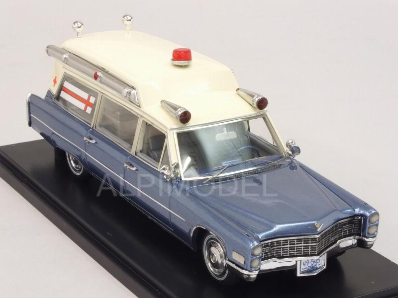 Cadillac S&S Ambulance 1966 (White/Blue) - neo