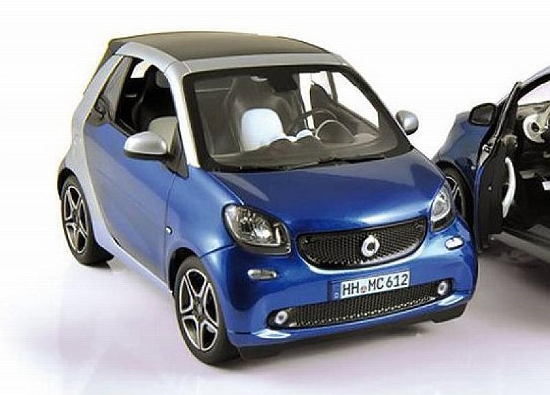 Smart Fortwo Cabrio 2015 (Blue/Silver) by norev