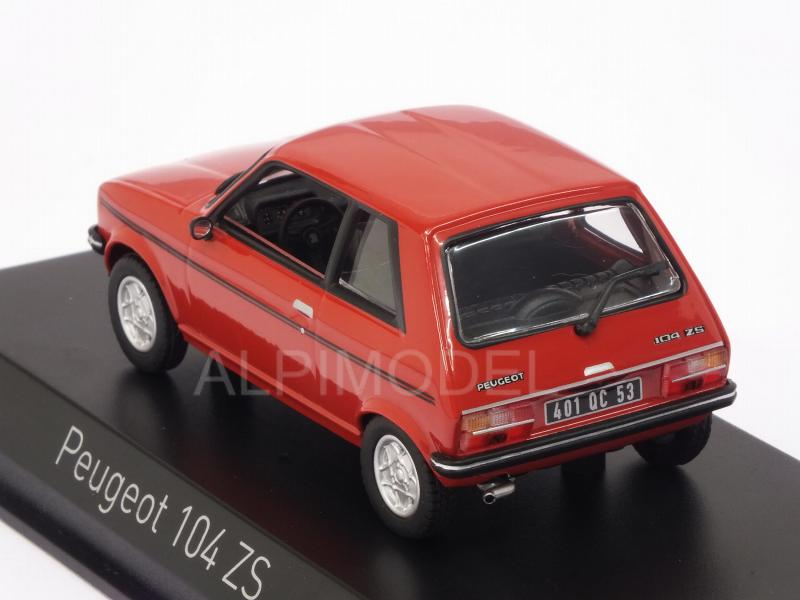 Peugeot 104 ZS 1979 (Persan Red) - norev