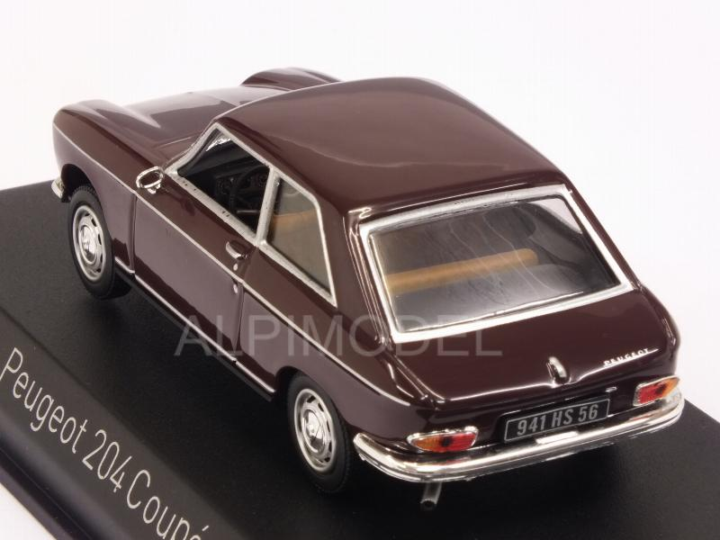 Peugeot 204 Coupe 1967 (Maroon) - norev