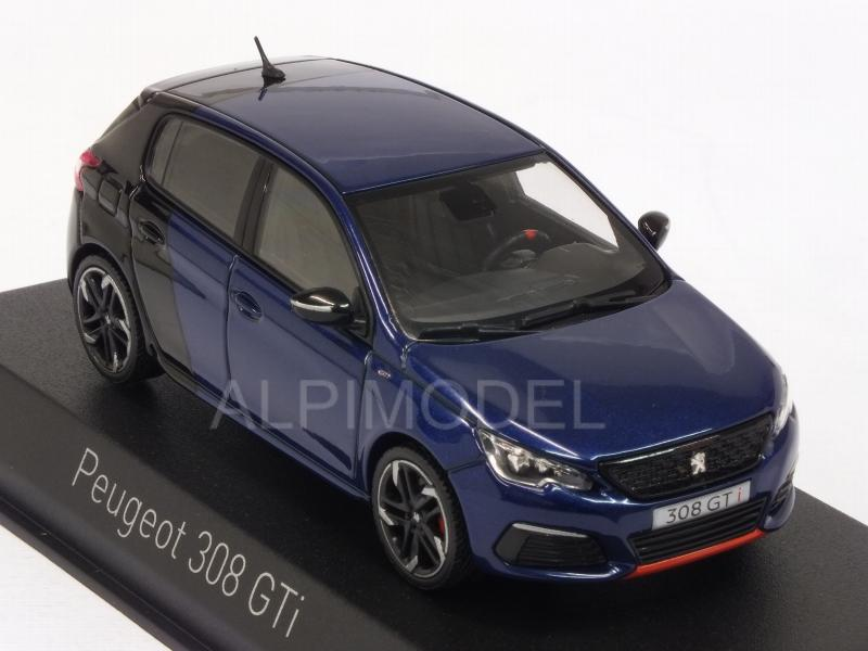 Peugeot 308 GTI Coupe Franche 2017 (Magnetic Blue/Black) - norev