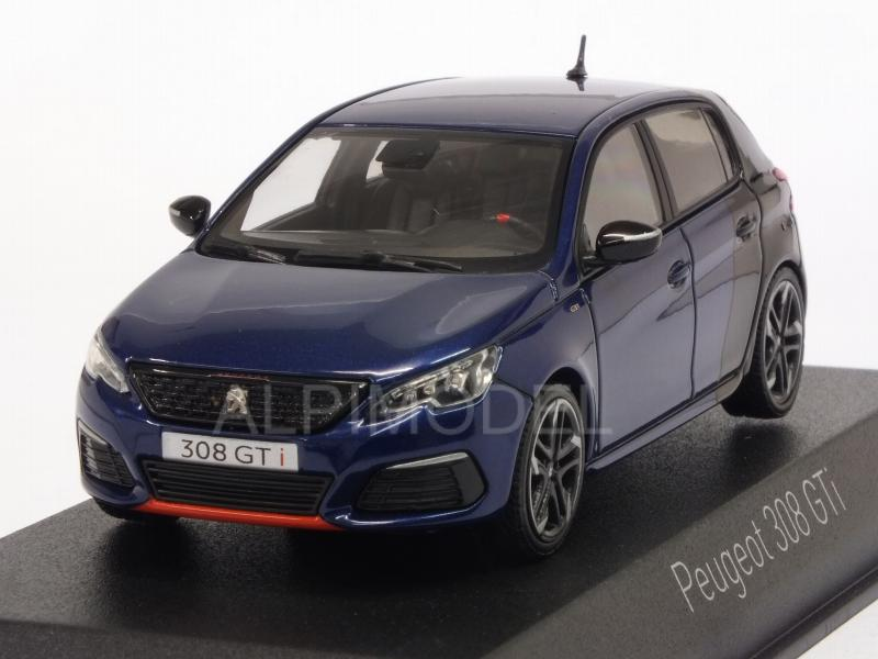 Peugeot 308 GTI Coupe Franche 2017 (Magnetic Blue/Black) by norev