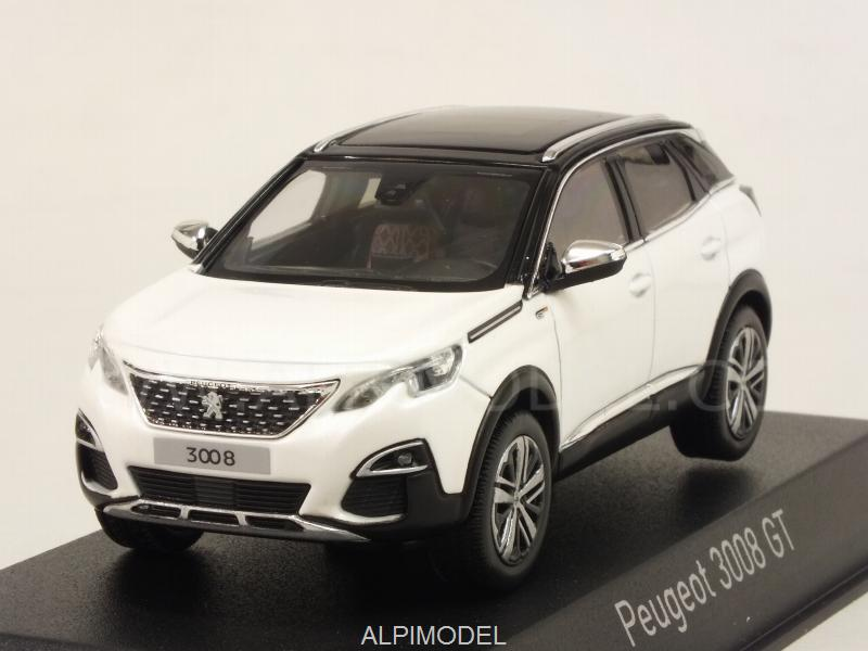 Norev Peugeot 3008 Gt 2016 Pearl White 1 43 Scale Model