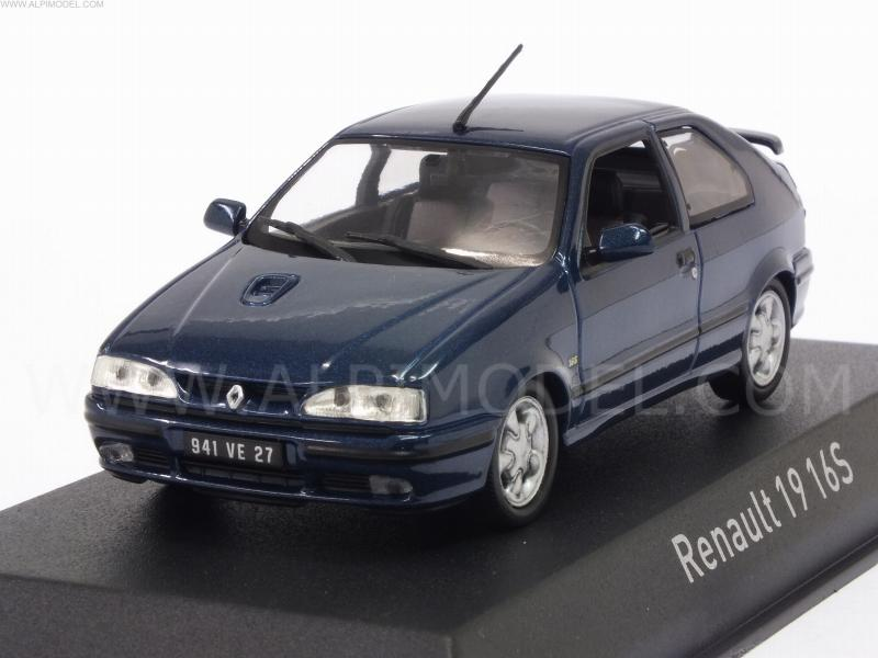 Assez NOREV 511907 Renault 19 16S 1992 (Sport Blue) 1/43 XL41