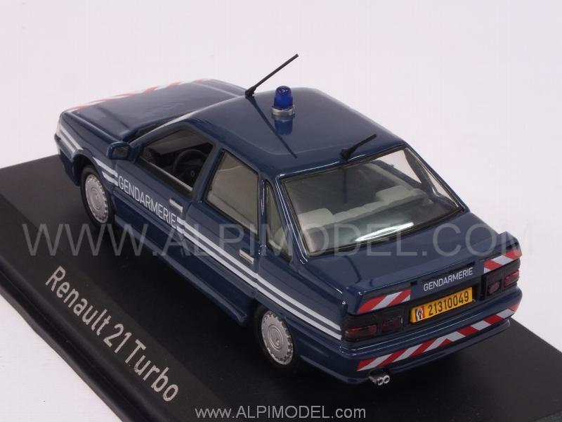 Renault 21 turbo Gendarmerie France 1995 Polizei Fahrzeuge 1:43 Decal Abziehbild