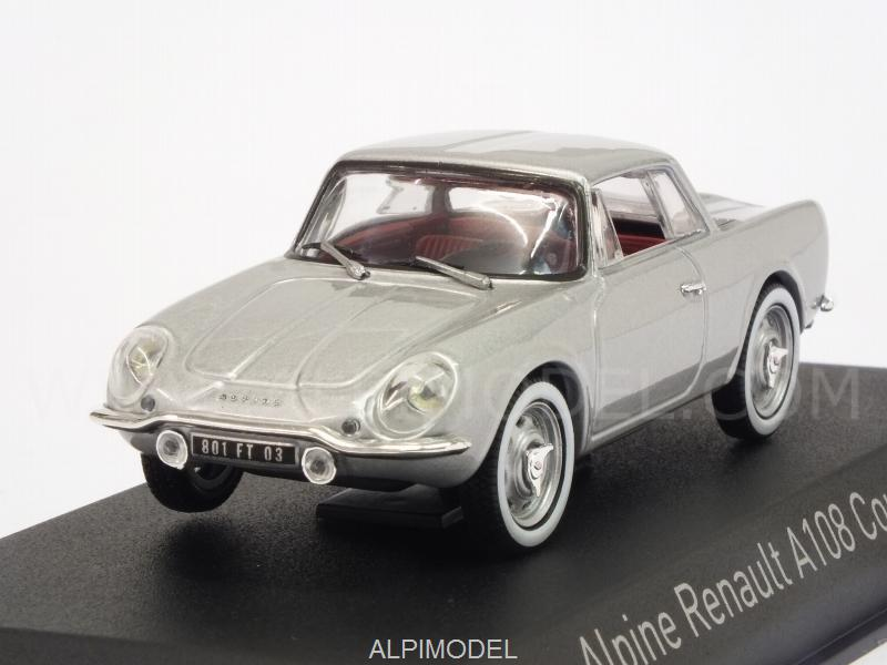 Alpine A108 Renault Coupe 2+2 1961 (Silver) by norev
