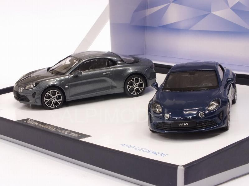 Alpine A110 Pure & Legende 2018 (2-cars Gift Box) - norev