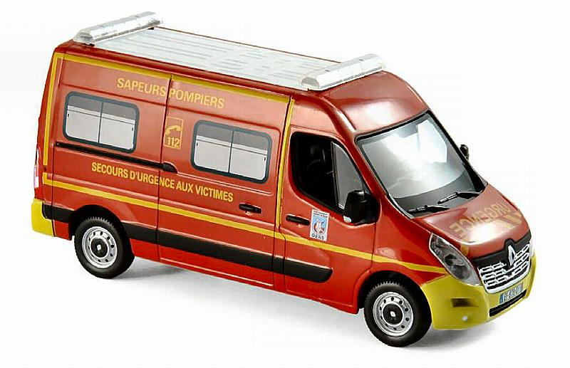 Renault Master 2014 Pompiers VSAV (Yellow Bumpers) by norev