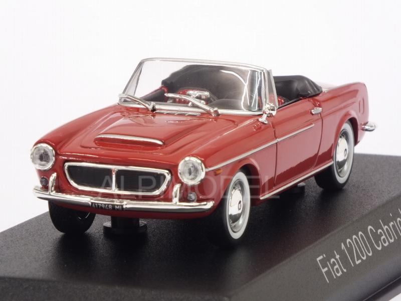 Fiat 1200 Cabriolet 1959 (Red) by norev