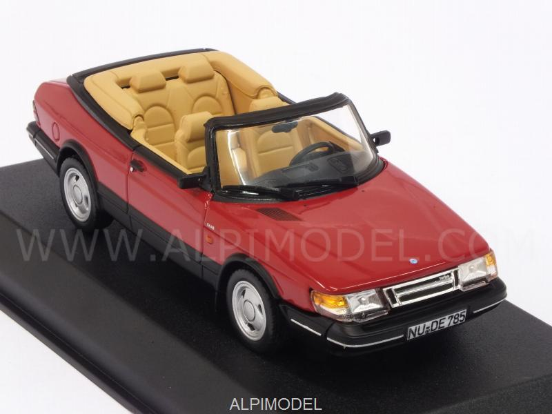 Saab 900 Turbo 16 Cabriolet 1992 (Red) - norev
