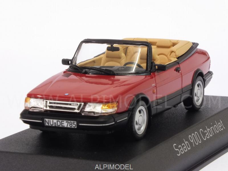 Saab 900 Turbo 16 Cabriolet 1992 (Red) by norev