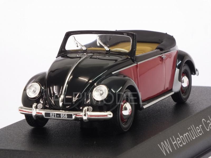 Volkswagen Hebmuller 1949 (Black/Red) by norev