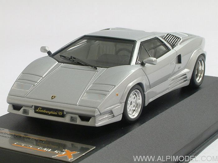 Premium X Pr0187 Lamborghini Countach 25th Anniversary 1989 Silver